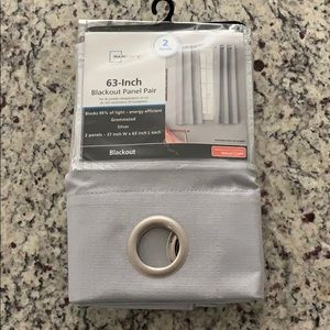 NWT mainstays silver grommet blackout 63 curtains